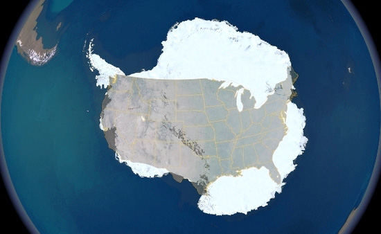 The Size Of Antarctica