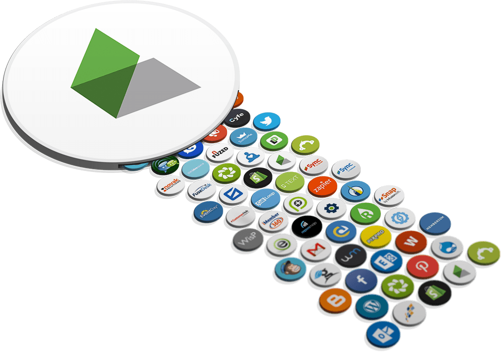 Application icons moving into Infusionsoft logo