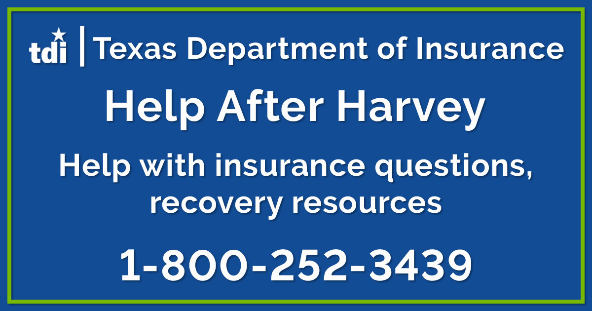 help after Harvey 1-800-252-3439