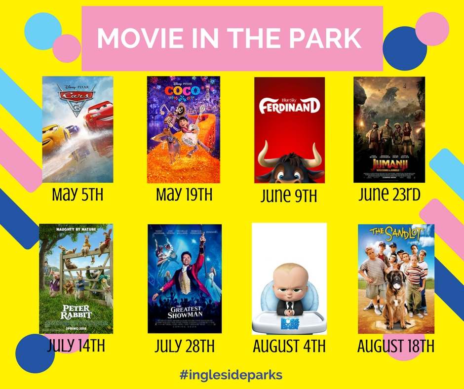 Movies In The Park Flyer 2018