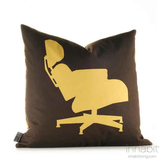 1956 in Chocolate and Sunflower Pillow