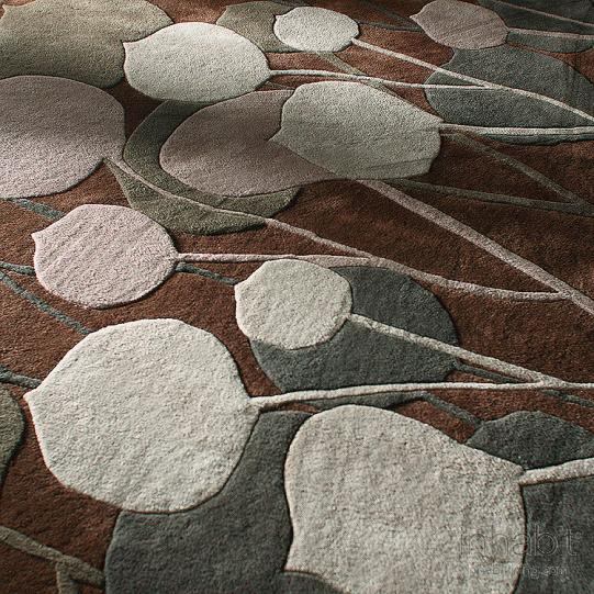 Seedling in Chocolate & Natural Hand-Tufted Wool Rug