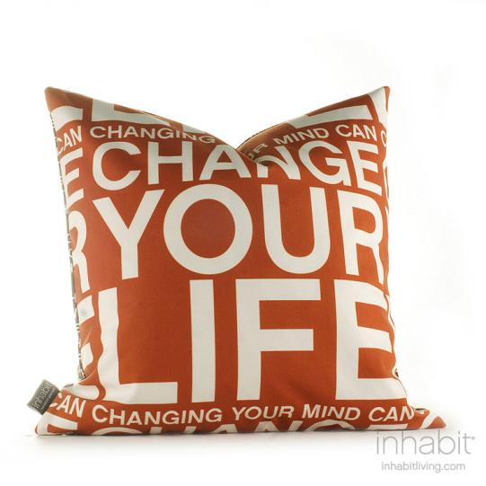 Change Your Life in Rust Pillow