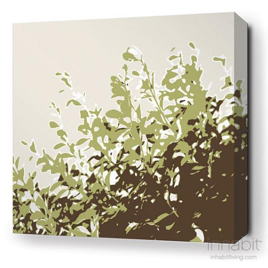 Foliage in Grass Stretched Wall Art