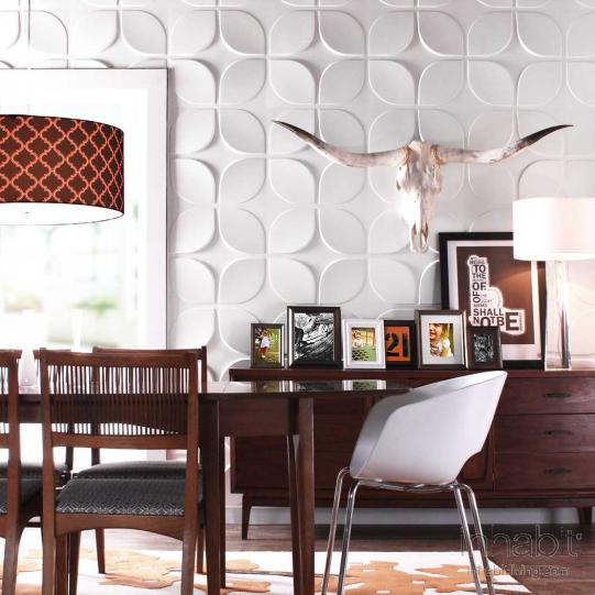 Lotus Wall Flats, 3D embossed wall tiles