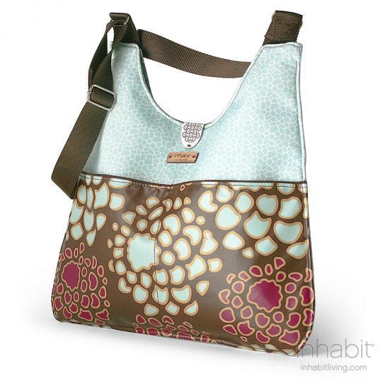 Nixon Mum in Plum & Cornflower Handbag