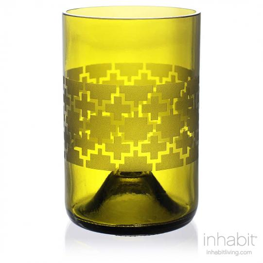 Plus Green Drinking Glass