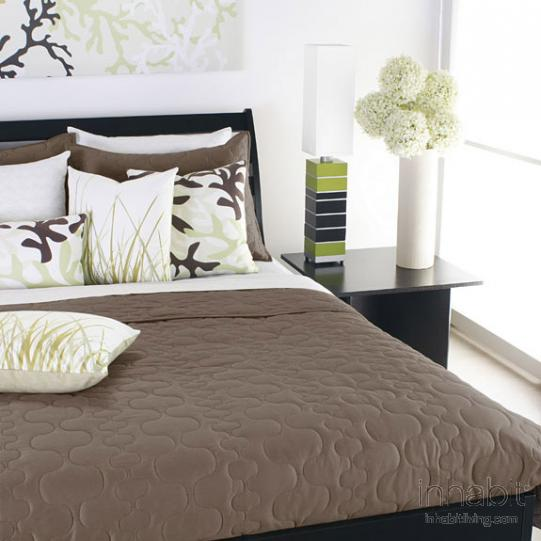 Spa in Natural Quilted Coverlet and Shams