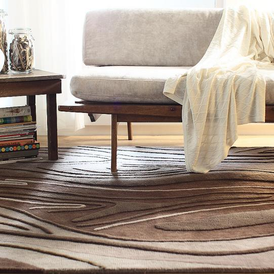 Madera in Chocolate Wool Area Rug