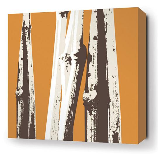 Bamboo in Sunshine Stretched Wall Art