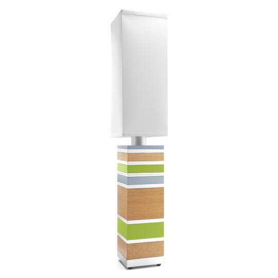 Big Man on Campus in Oak & Green Table Lamp