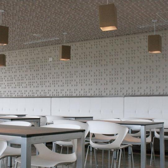 Braille Wall Flats, 3D embossed wall tiles