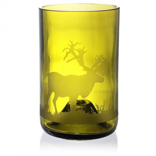 Caribou Green Drinking Glass