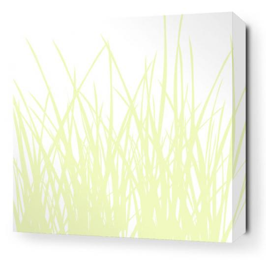 Grass in Dew Stretched Wall Art