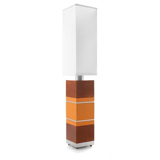 Shoot the Breeze in Orange & Rosewood Table Lamp