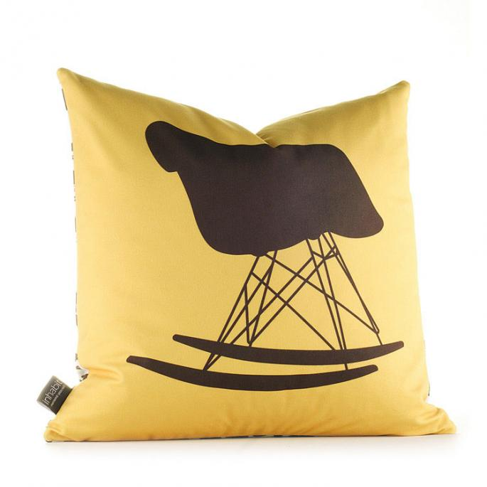 1948 in Sunflower and Chocolate Pillow
