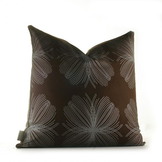 Aequorea in Chocolate and Silver  Studio Pillow