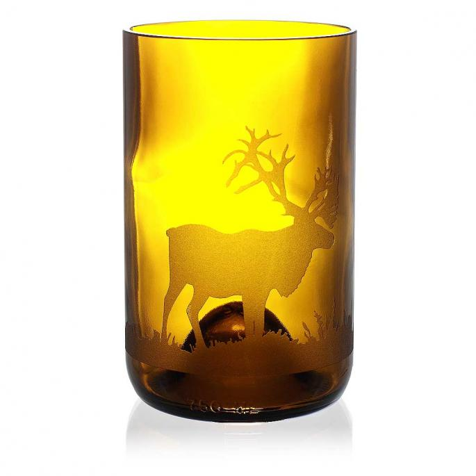 Caribou Amber Drinking Glass