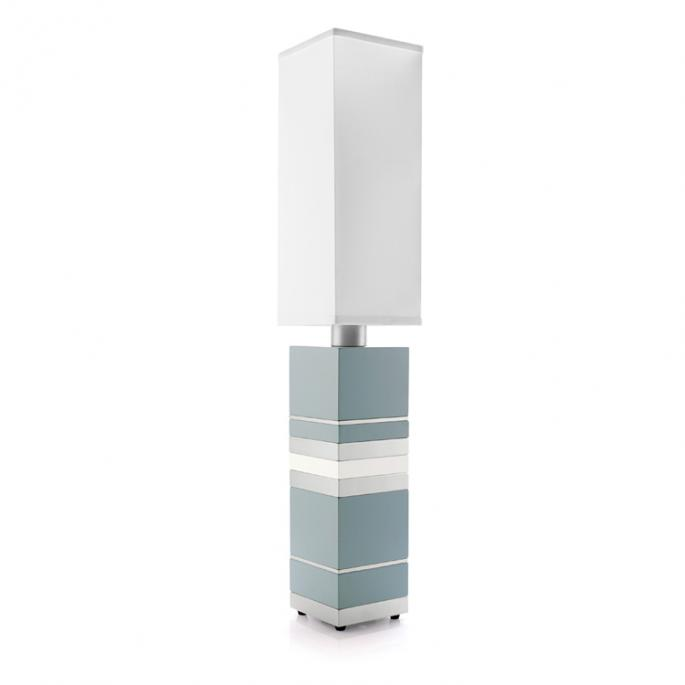 Chump Change in Blue & White Table Lamp