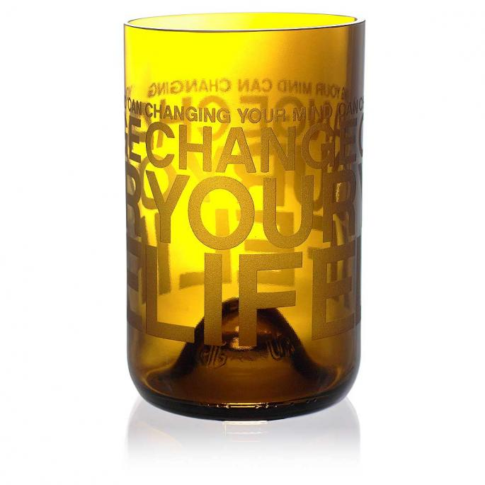Change Your Life Amber Drinking Glass