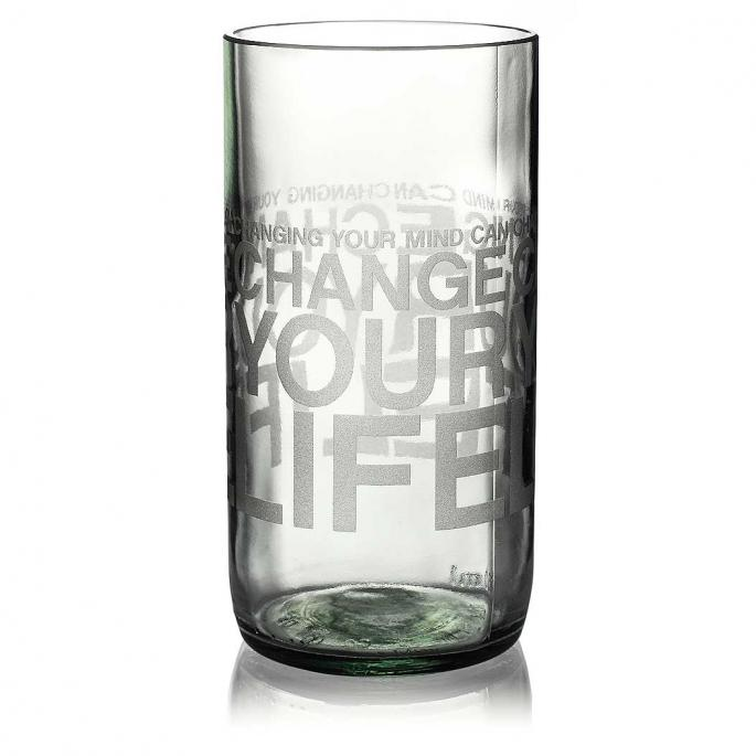 Change Your Life Clear Drinking Glass
