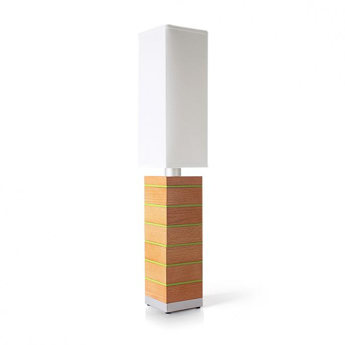 Even Steven in Oak & Green Table Lamp