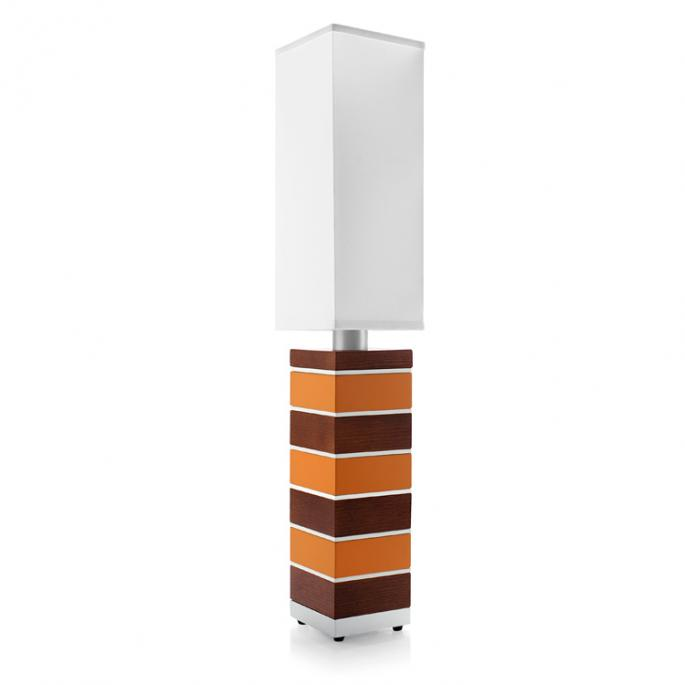 Even Steven in Orange & Walnut Table Lamp