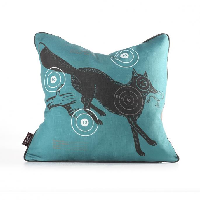 Fox Bullseye in Cornflower Pillow