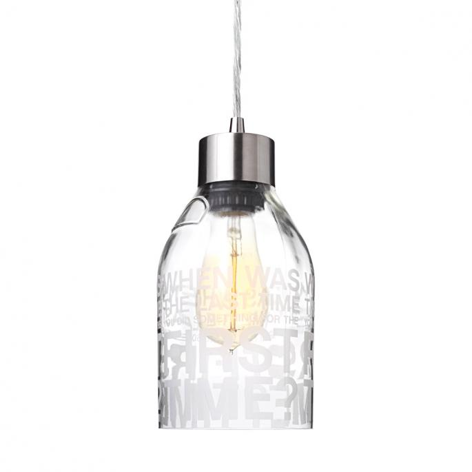 First Time in Clear Reclaimed Bottle Pendant Light