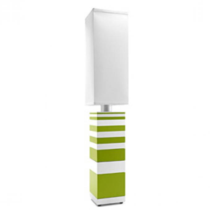 Fade to White in Green & White Table Lamp