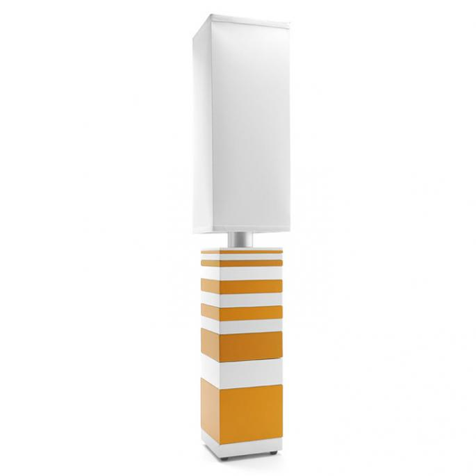 Fade to White in Orange & White Table Lamp