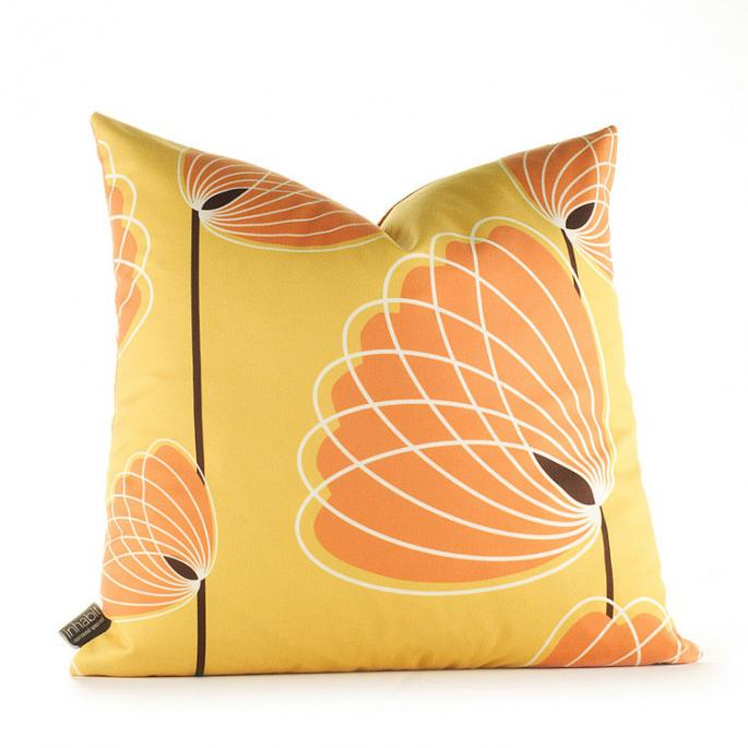Lotus in Sunflower and Sunshine Pillow