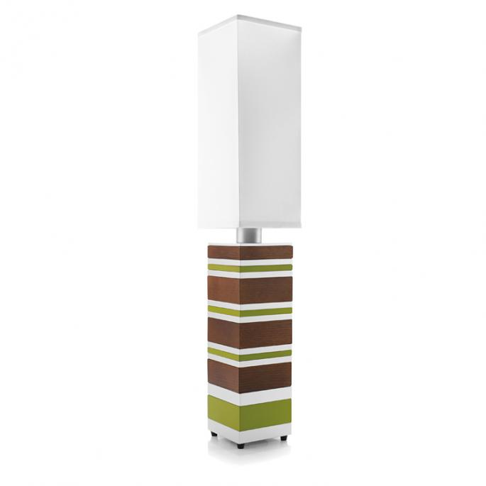 Mack Daddy in Green & Walnut Table Lamp