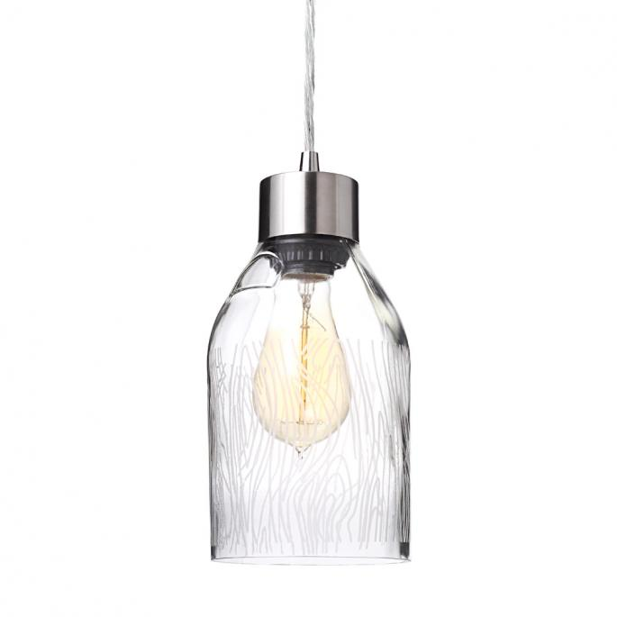 Madera in Clear Reclaimed Bottle Pendant Light
