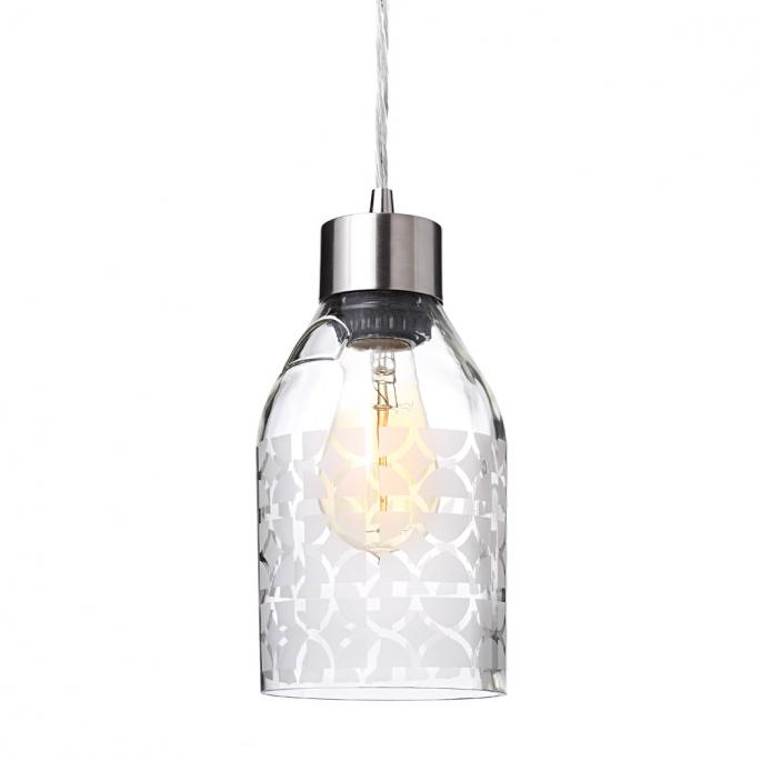 Nixon in Clear Reclaimed Bottle Pendant Light