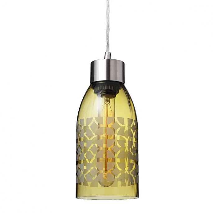 Nixon in Ochre Reclaimed Bottle Pendant Light