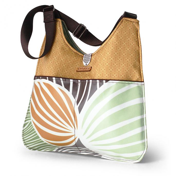 Nixon Leaf in Grass & Butterscotch Handbag