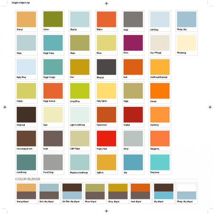 Graphic Pillow Color Card