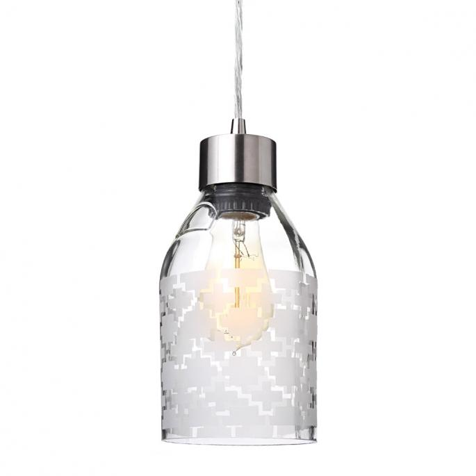 Plus in Clear Reclaimed Bottle Pendant Light