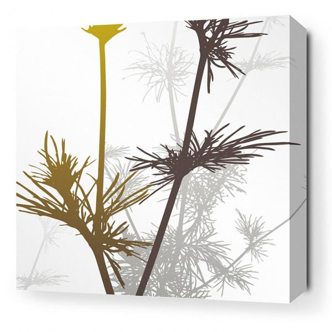 Prairie in Olive and Charcoal Stretched Wall Art