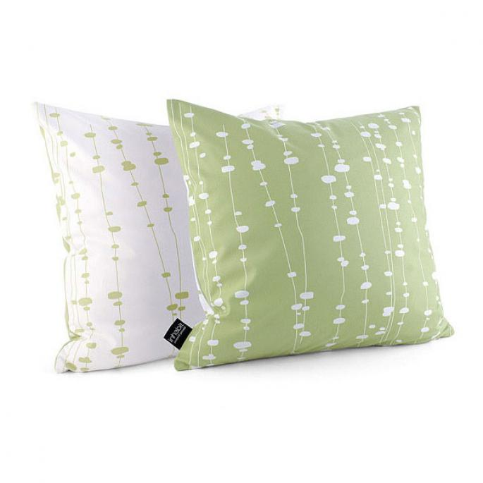Pussy Willows in Celery Pillow