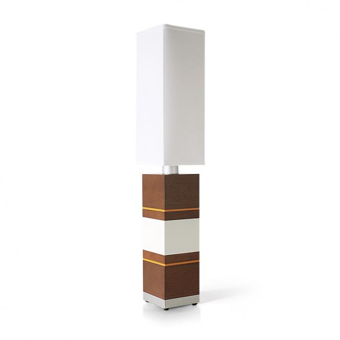 Shoot the Breeze in Walnut, White & Orange Table Lamp