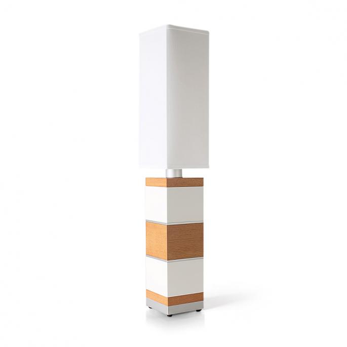 Shoot the Breeze in White, Oak & Silver Table Lamp
