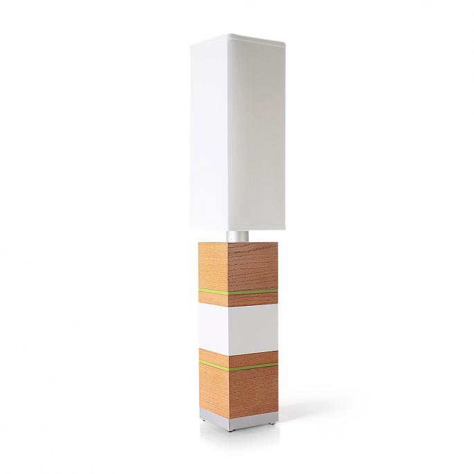Shoot the Breeze in Oak, White & Green Table Lamp