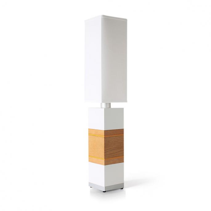 Shoot the Breeze in White, Oak & Orange Table Lamp