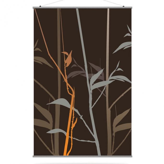 Tall Grass in Charcoal and Rust Slat