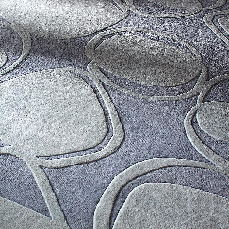 River Rock in Soft Blue Hand-Tufted Wool Rug