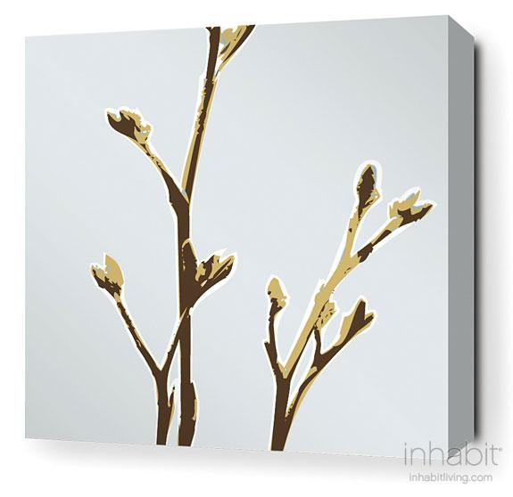 Axis in Aqua Stretched Wall Art