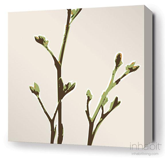 Axis in Grass Stretched Wall Art