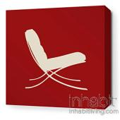 1929 in Scarlet Stretched Wall Art